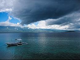 Blick aufs Meer vom Magic Island Resort, Moalboal/Cebu